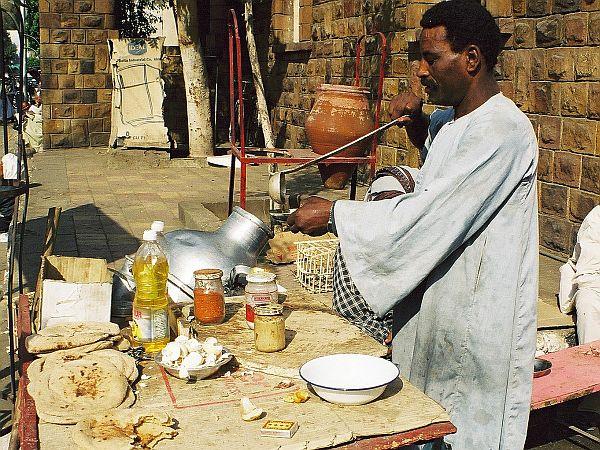Egipskie śniadanie. Wtedy nie było mnie stać nawet na takie.