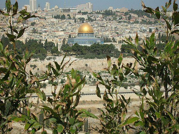 Widok na Starą Jerozolimę ze Wzgórza Oliwnego