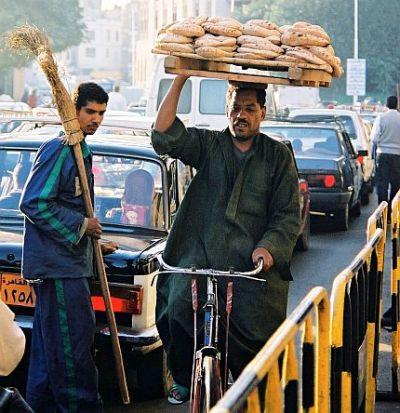 Dostawca chleba w Kairze
