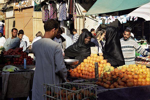 Południowy Egipt. Na targu.