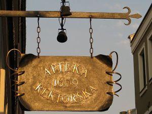 Apteka Rektorska działa od 1609 roku!