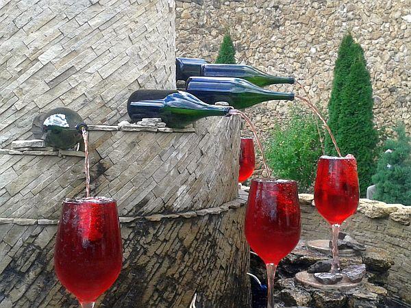 Fontanna wina w Milesti Mici