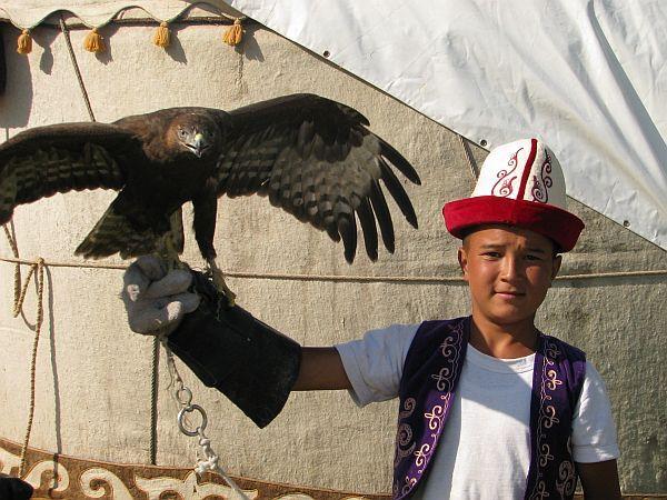 Polowanie z sokołami należy do kirgiskiej tradycji