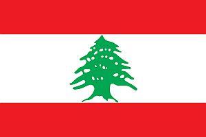 Flaga Libanu. Cedr jest symbolem kraju.