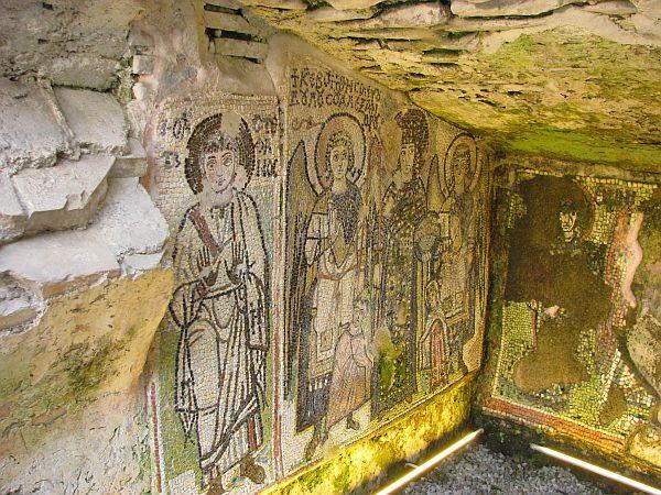 Mozaiki w amfiteatrze w Durres