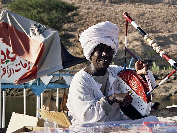 Sprzedawca pamiątek w Asuanie