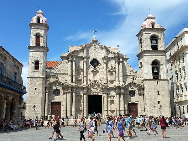 Katedra w Hawanie, XVIII wiek. Chyba najładniejszy zabytek na Kubie