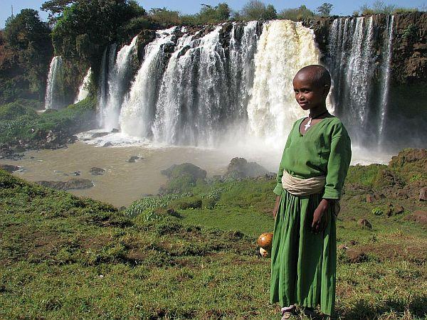 Etiopia, wodospad na Nilu Błękitnym